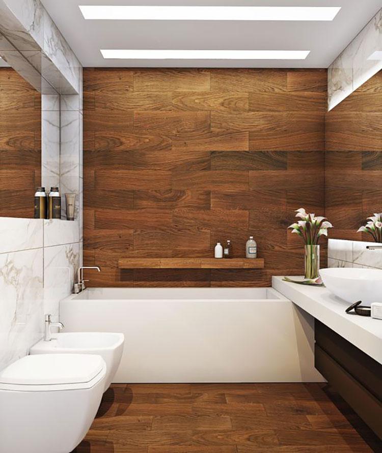 Arredamento per bagno in stile rustico moderno n.03