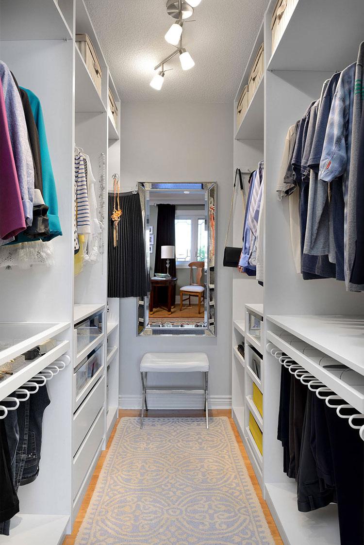 Idee per arredare una cabina armadio piccola n.05