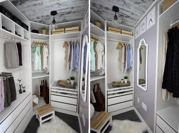 Idee per arredare una cabina armadio piccola n.13