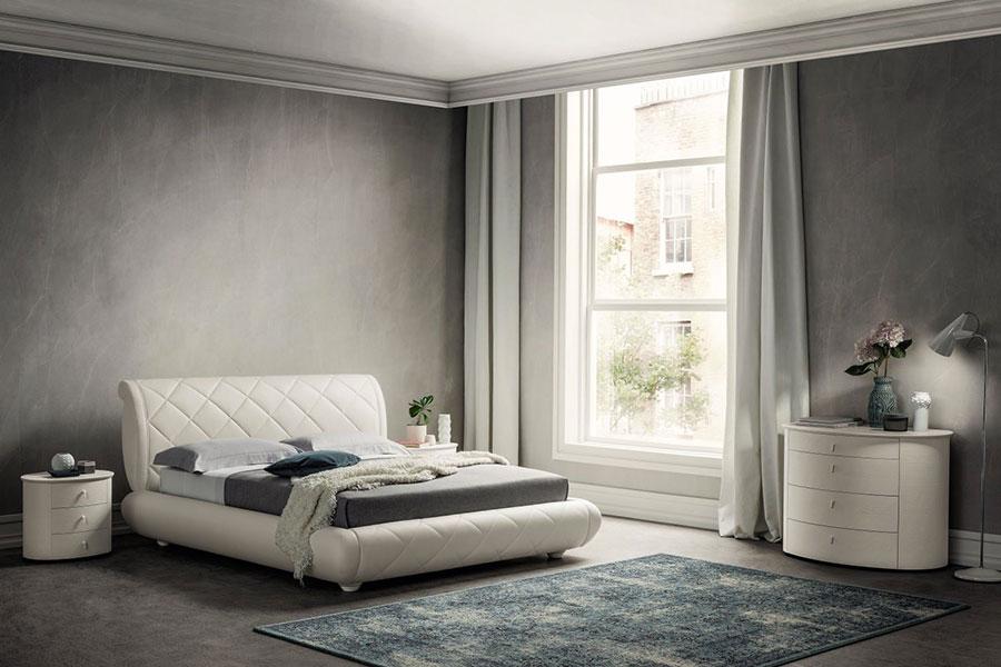 Modello di camera da letto contemporanea bianca n.02