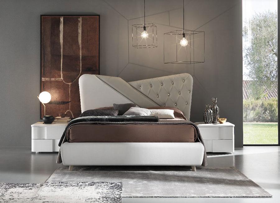 Modello di camera da letto contemporanea con Swarosvki n.01