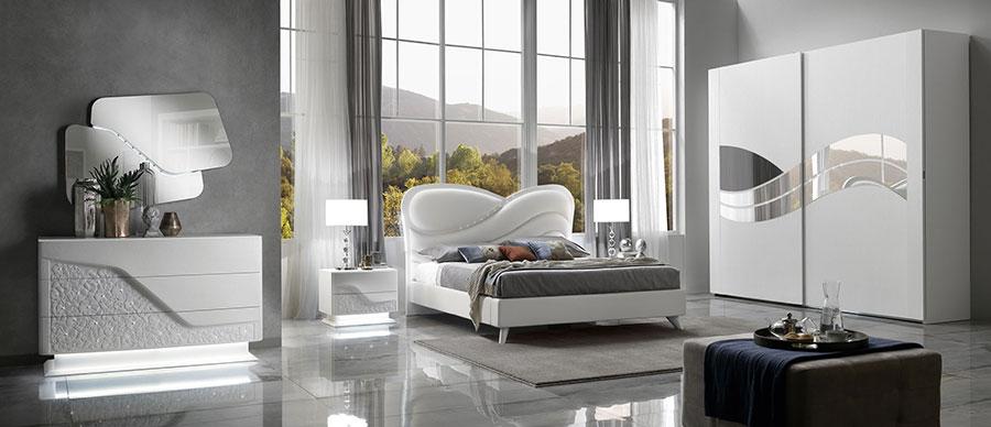 Modello di camera da letto contemporanea con Swarosvki n.03