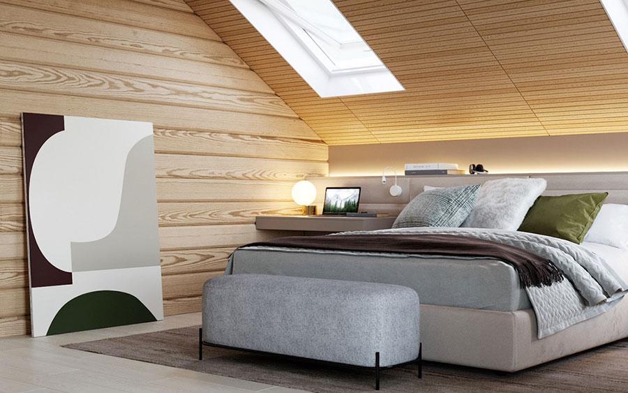 Arredamento per camera da letto in stile rustico moderno n.01