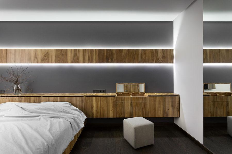 Arredamento per camera da letto in stile rustico moderno n.02