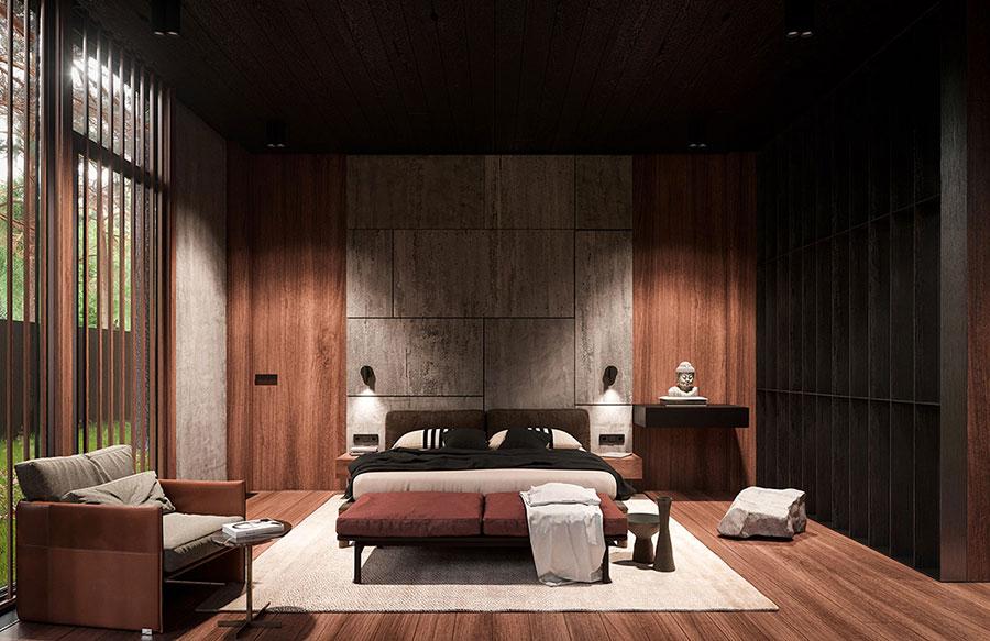 Arredamento per camera da letto in stile rustico moderno n.03