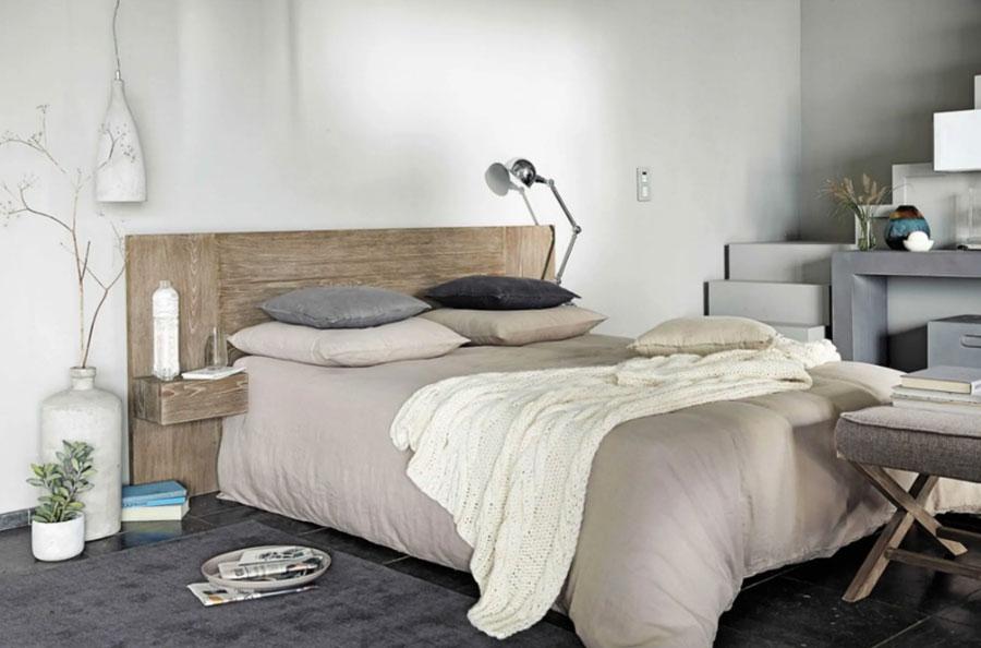 Arredamento per camera da letto in stile rustico moderno n.06