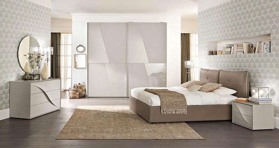 Modello di camera da letto contemporanea n.01