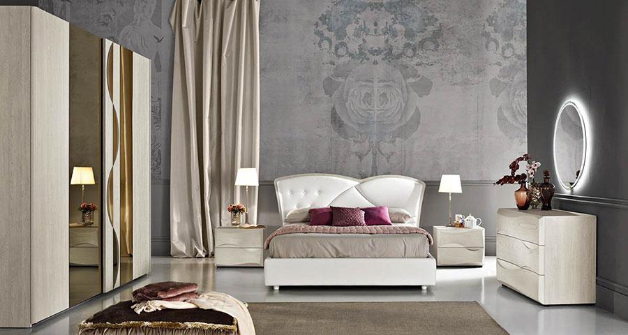 Modello di camera da letto contemporanea n.03