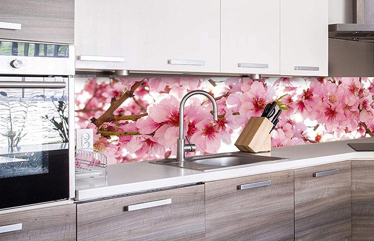 Modello di paraschizzi per cucina adesivo decorativo n.02