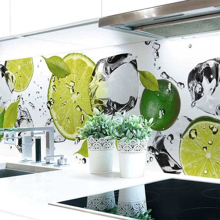 Modello di paraschizzi per cucina adesivo decorativo n.03