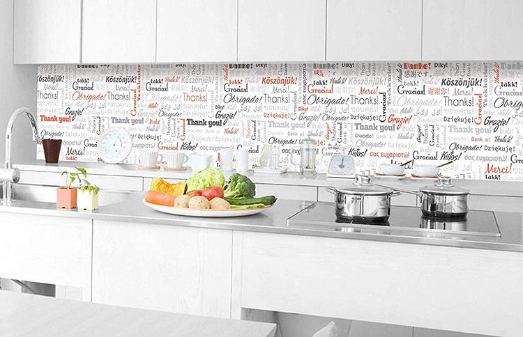 Modello di paraschizzi per cucina adesivo decorativo n.04