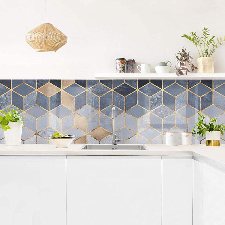 Modello di paraschizzi per cucina adesivo moderno n.02