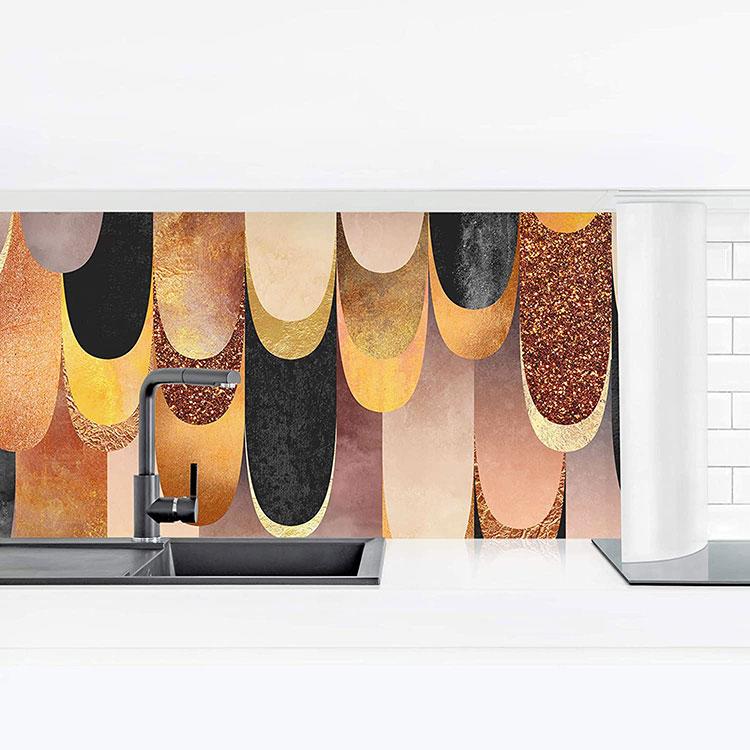 Modello di paraschizzi per cucina adesivo moderno n.04