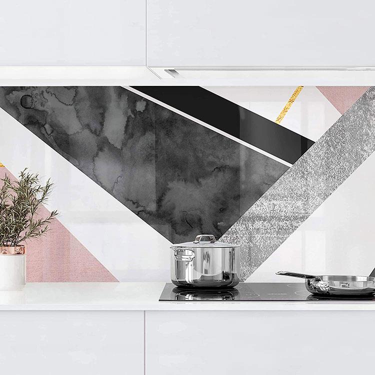 Modello di paraschizzi per cucina adesivo moderno n.05