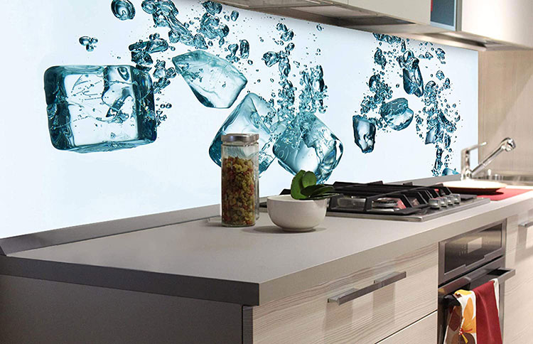 Modello di paraschizzi per cucina adesivo moderno n.09
