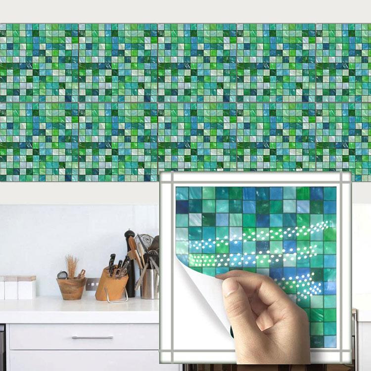 Modello di paraschizzi per cucina adesivo effetto mosaico n.02