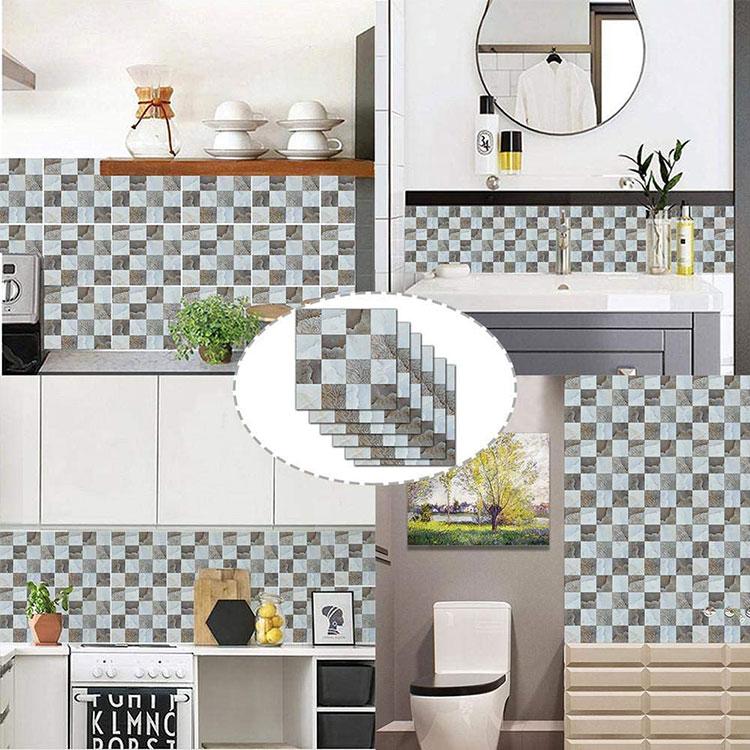 Modello di paraschizzi per cucina adesivo effetto mosaico n.05