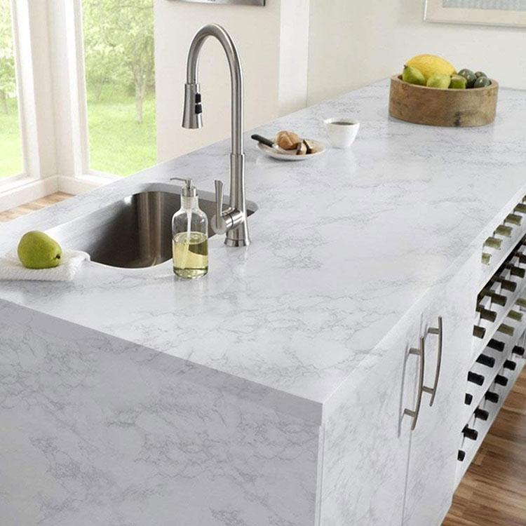 Modello di paraschizzi per cucina adesivo effetto pietra n.04