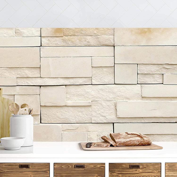 Modello di paraschizzi per cucina adesivo effetto pietra n.05
