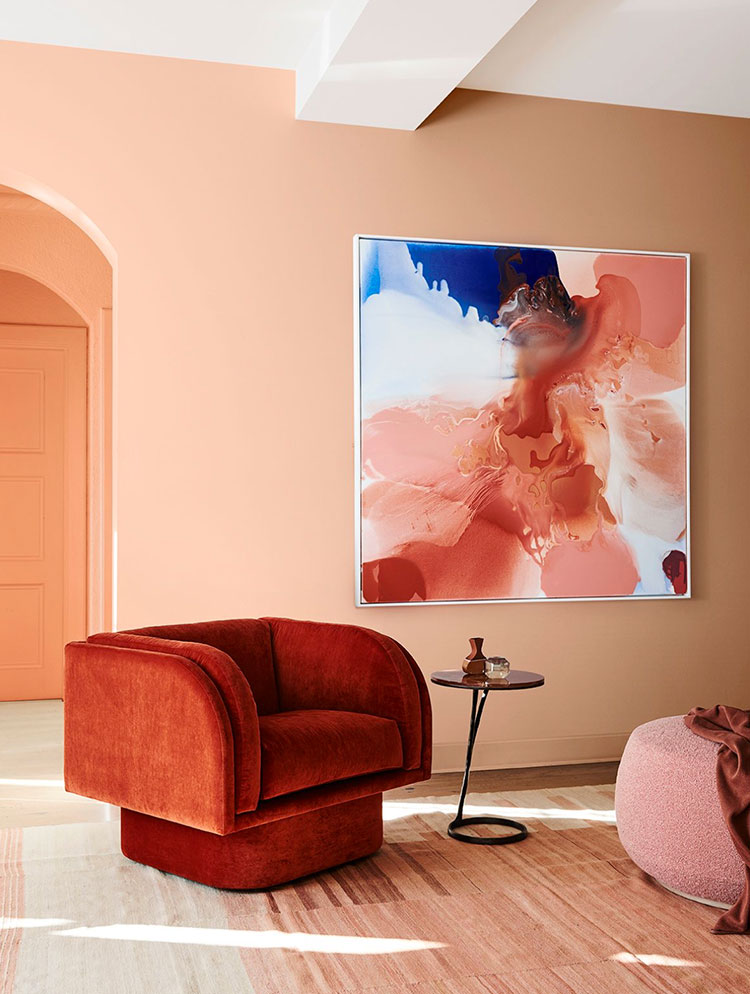Idee pareti colore salmone 01