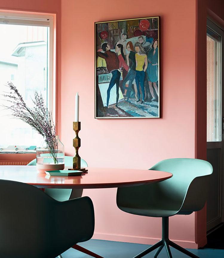 Idee pareti colore salmone 04