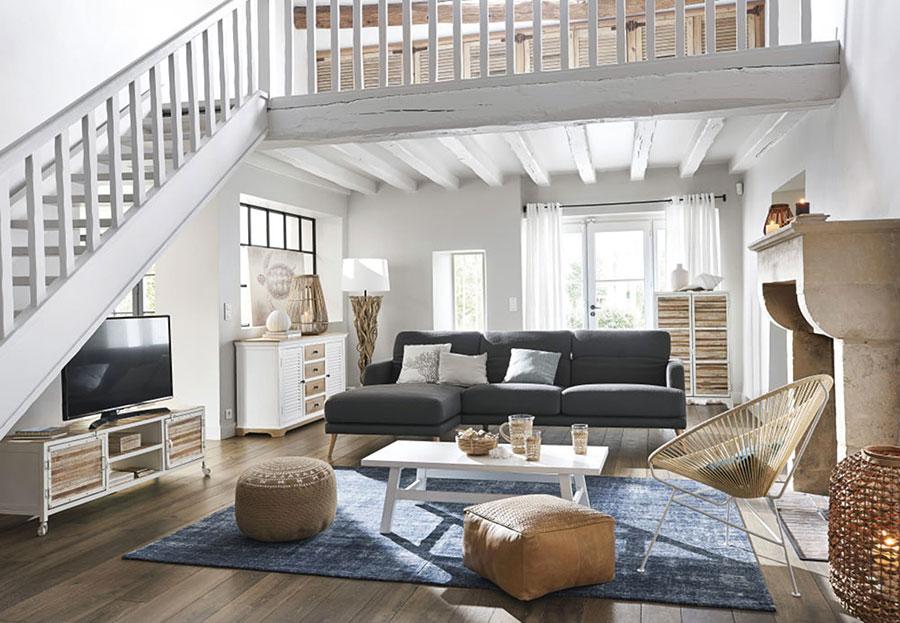 Arredamento per soggiorno in stile rustico moderno n.06