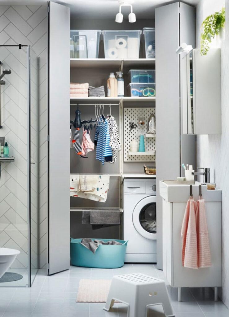 Idee per arredare una lavanderia Ikea n.10