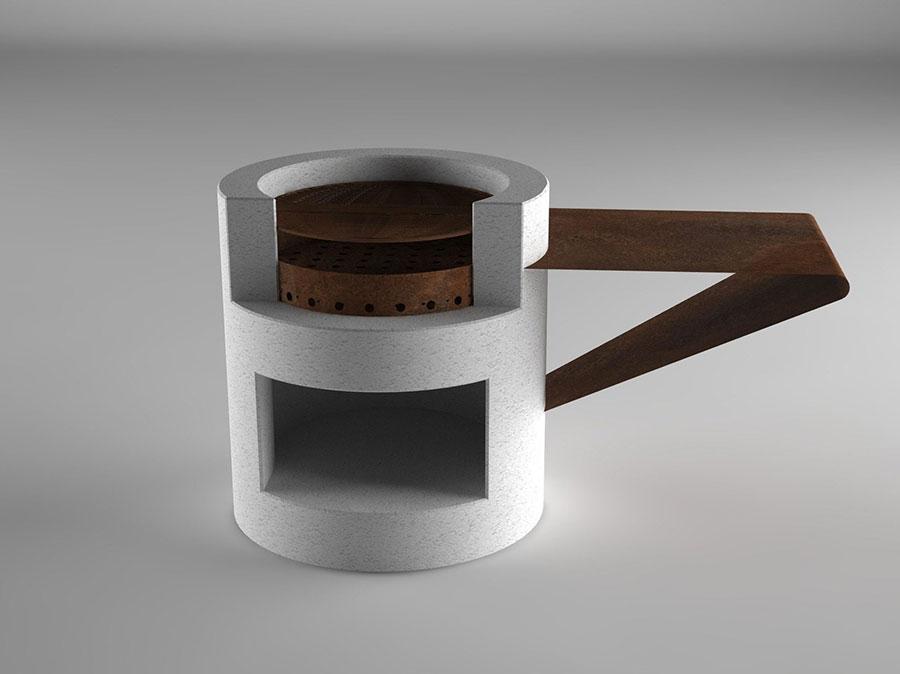Modello di barbecue dal design moderno n.13