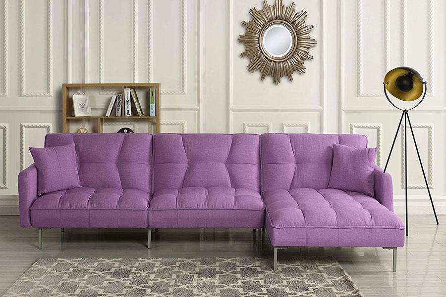 Modello di divano colore lavanda