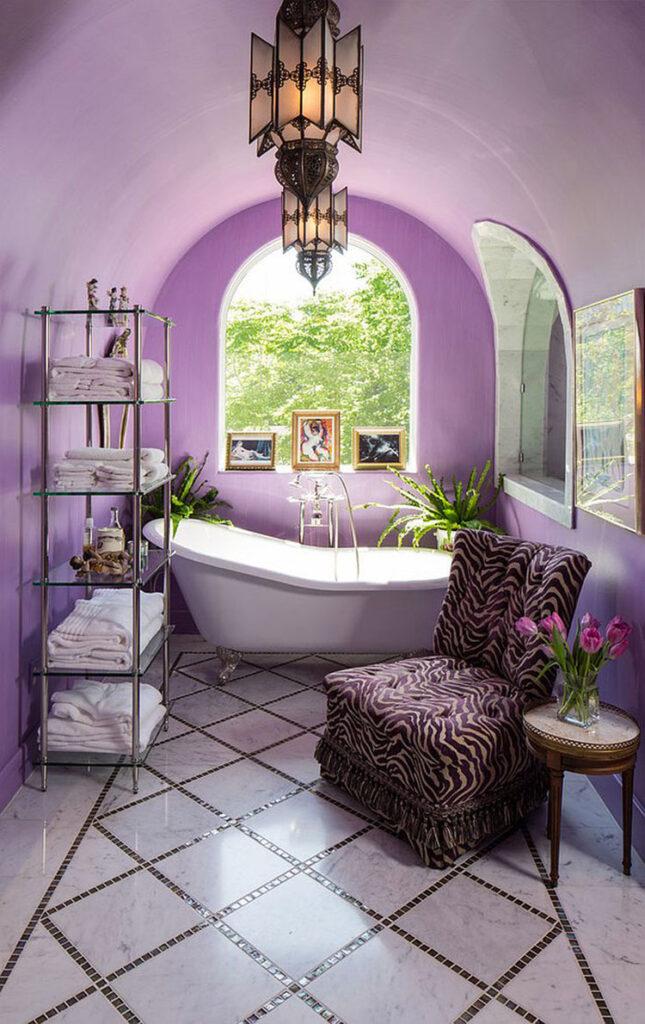 Pareti per bagno colore lavanda 02