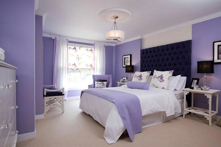 Pareti camera da letto colore lavanda 01