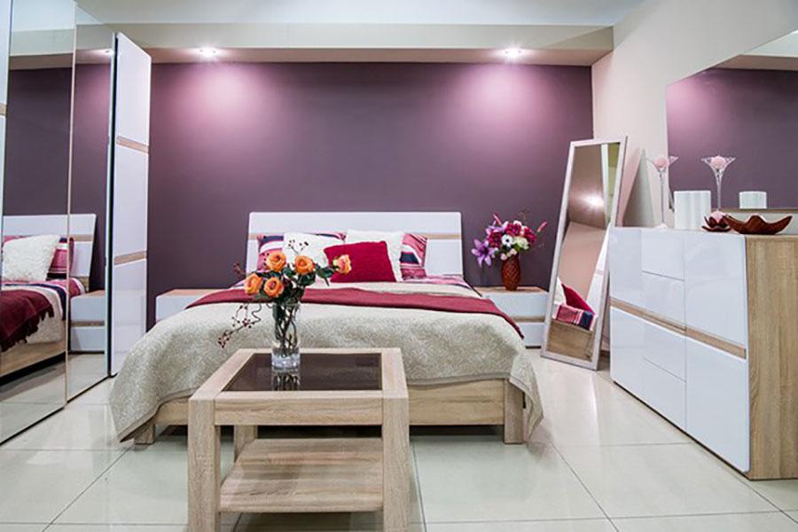 Pareti camera da letto colore lavanda 03