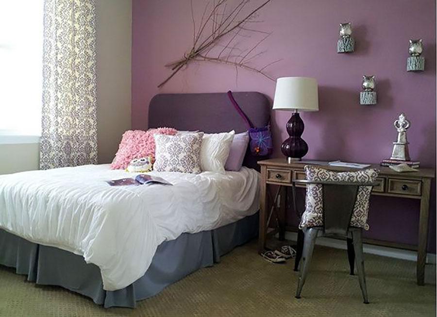 Pareti camera da letto colore lavanda 04