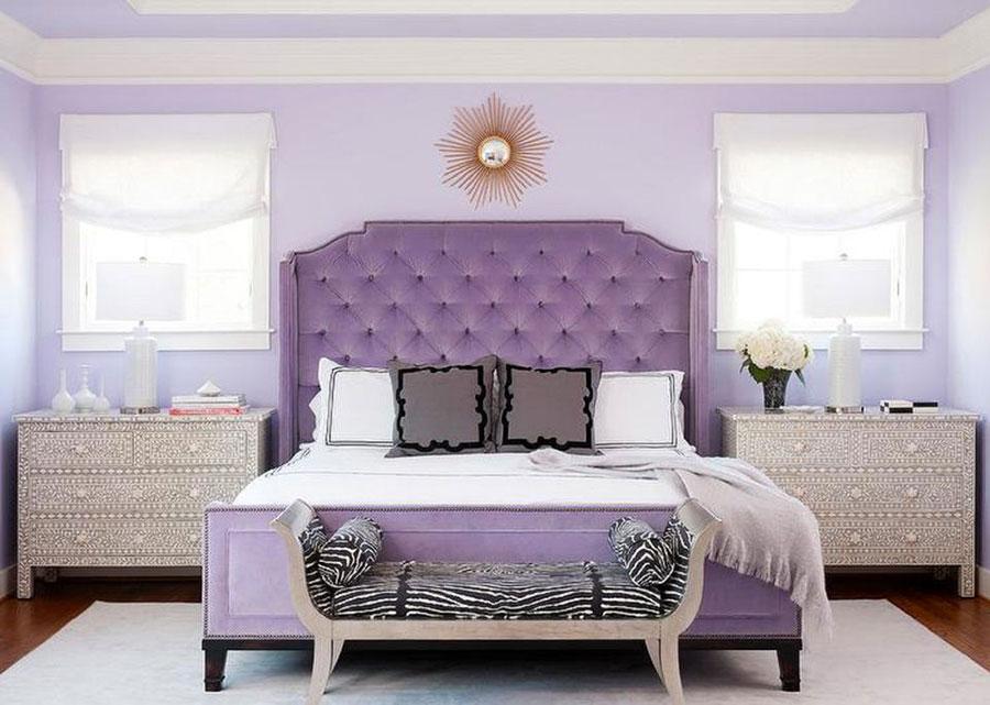 Pareti camera da letto colore lavanda 05
