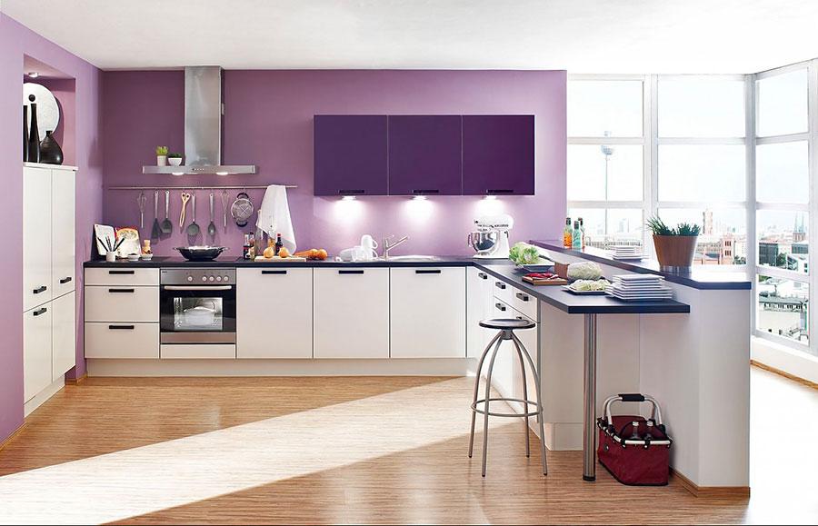 Pareti cucina colore lavanda 02