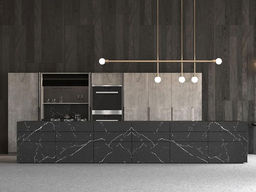 Cucina colore nero e grigio di tendenza per il 2020