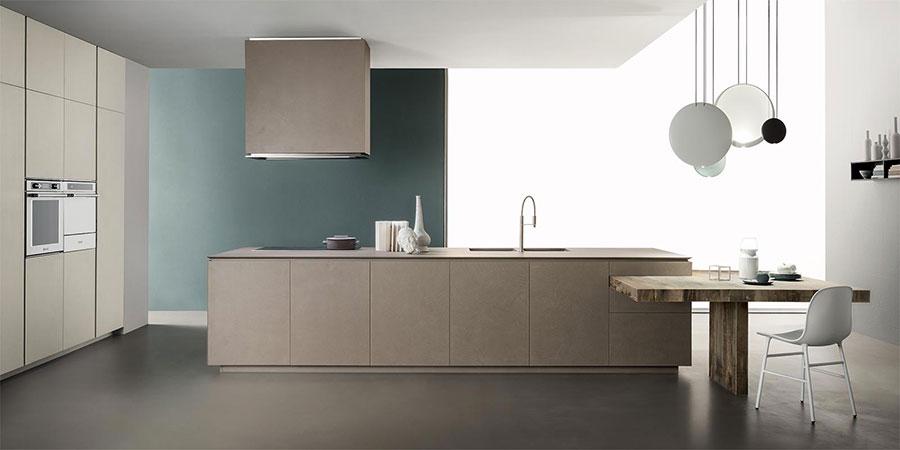Modello di cucina senza maniglie di tendenza 2020 n.03