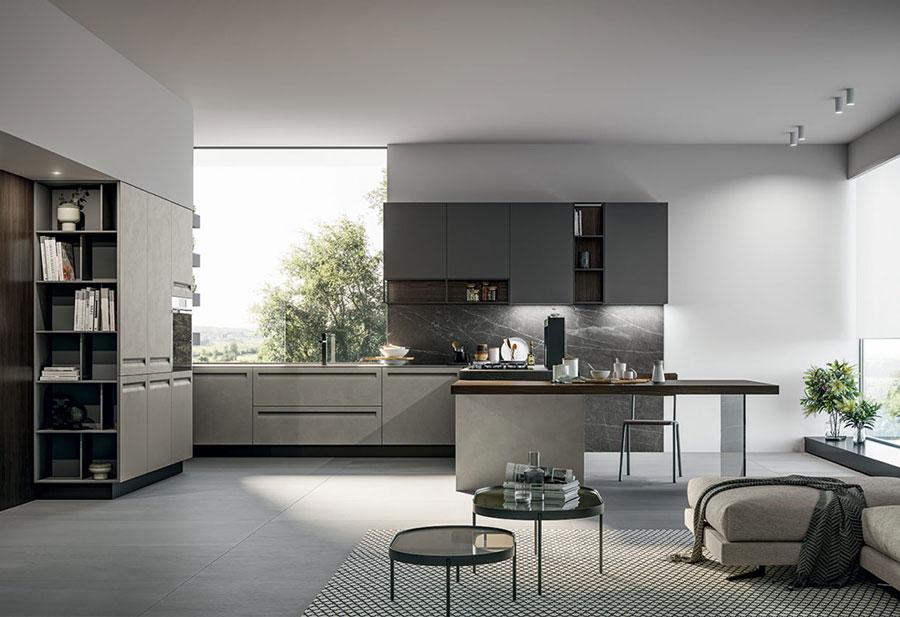 Modello di cucina senza maniglie di tendenza 2020 n.04
