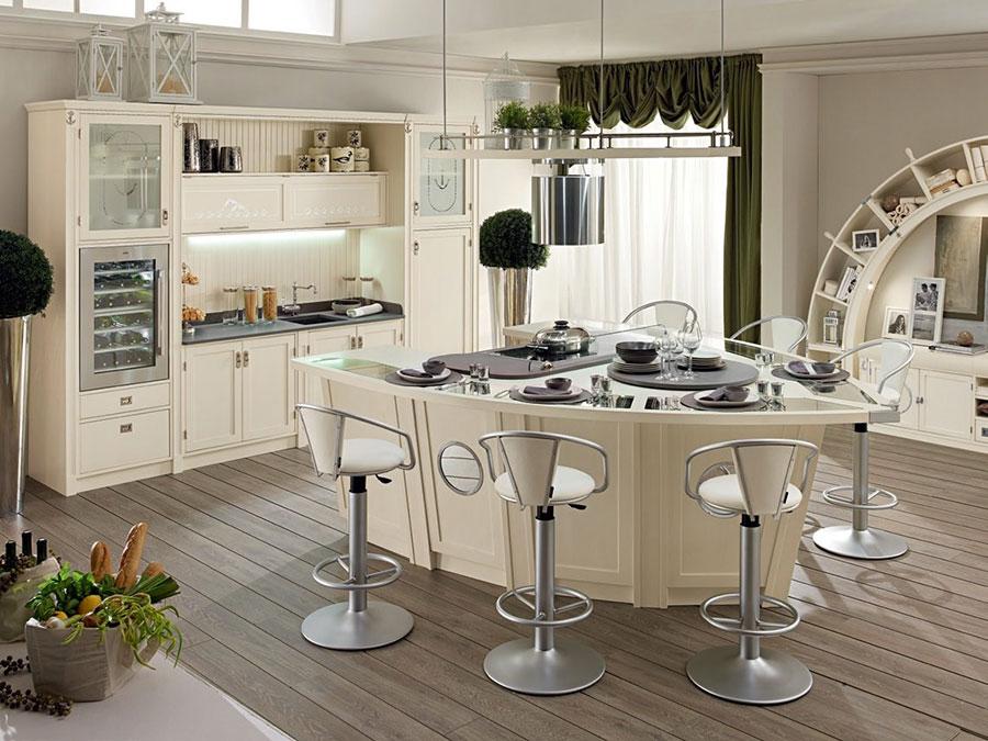 Modello di cucina classica avorio n.05