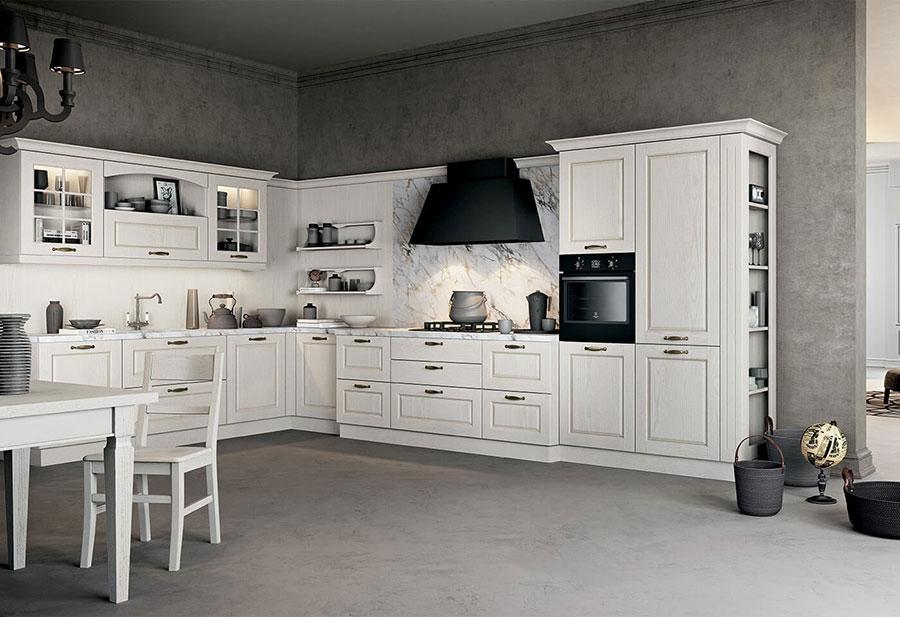 Modello di cucina classica avorio n.08