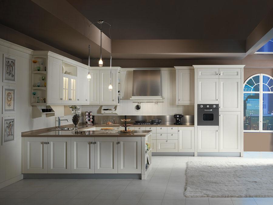 Modello di cucina classica avorio n.10