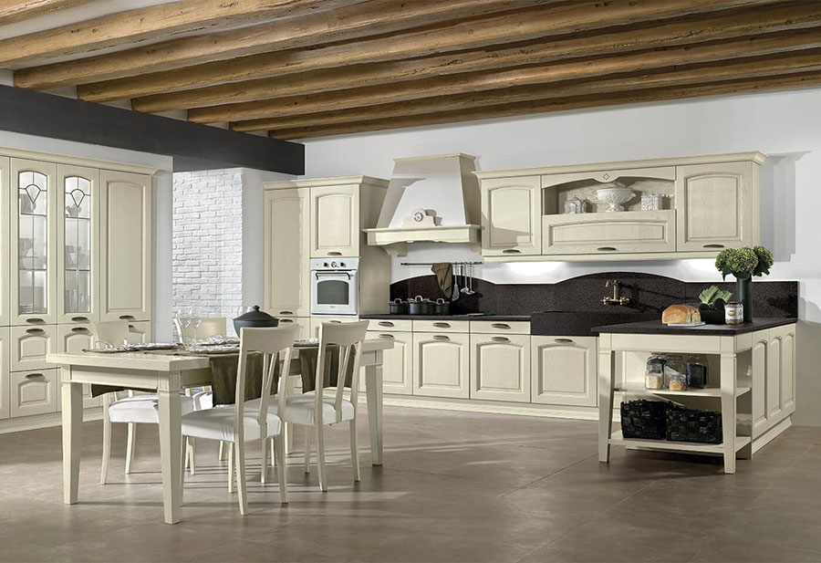 Modello di cucina classica avorio decapè n.02