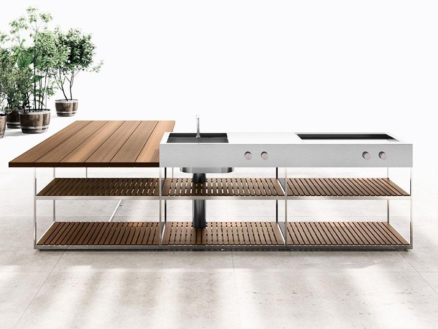 Cucina da esterno dal design moderno e funzionale n.25