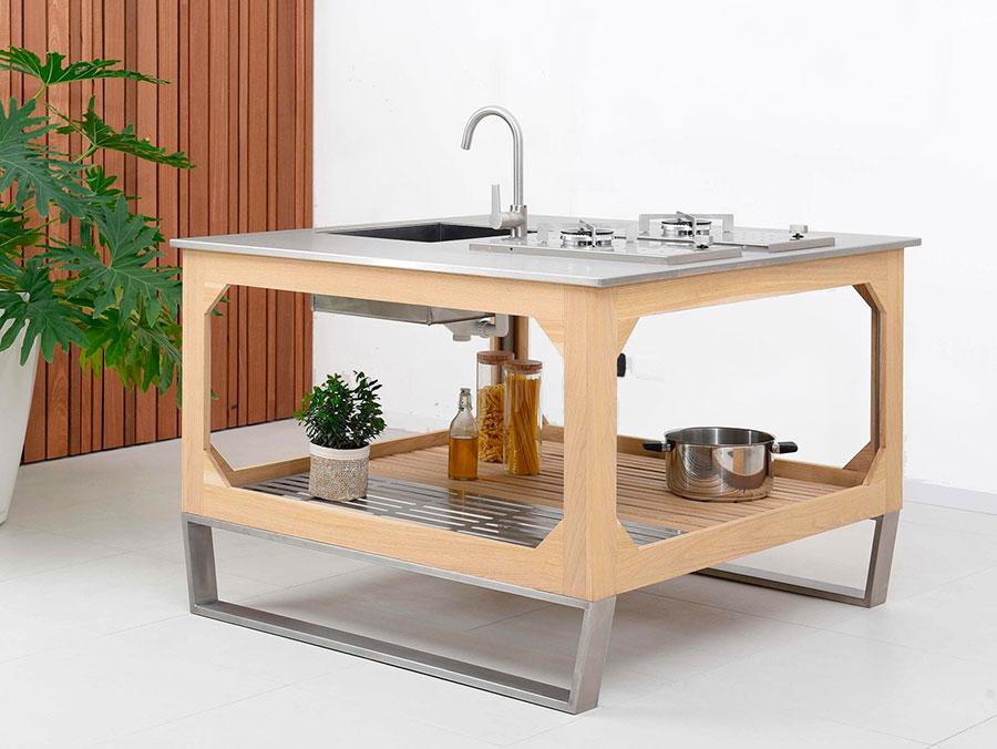 Cucina da esterno dal design moderno e funzionale n.28