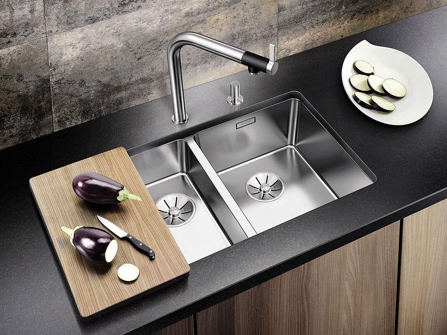 Modello di lavello da cucina in acciaio 01