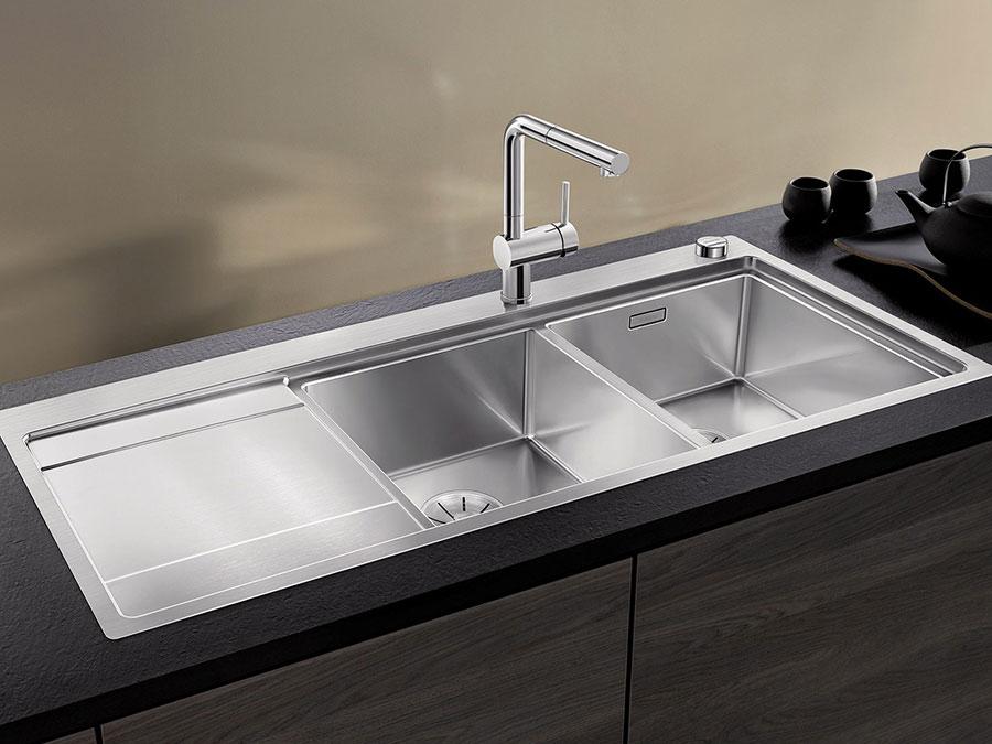 Modello di lavello da cucina in acciaio 02