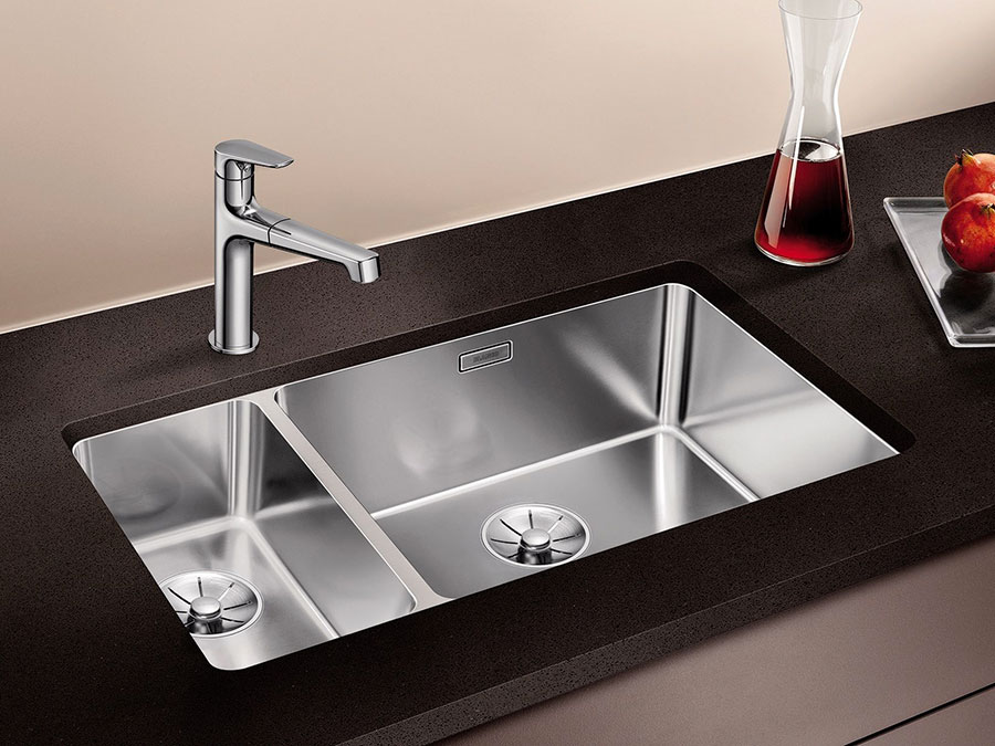 Modello di lavello da cucina in acciaio 03