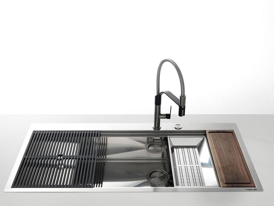 Modello di lavello da cucina in acciaio 04