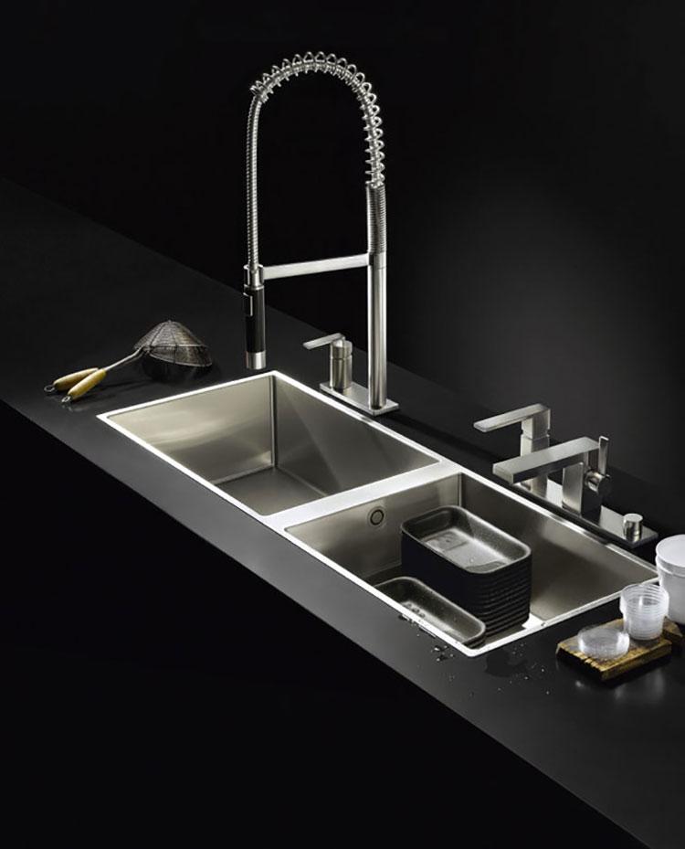 Modello di lavello da cucina in acciaio 05