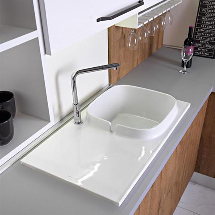 Modello di lavello da cucina in ceramica n.04